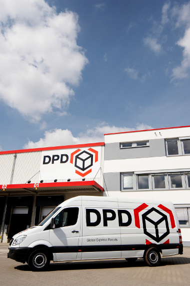 DPD Delivery vehicle at the depot